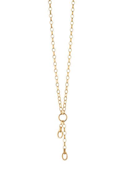 Monica Rich Kosann - 18K Yellow Gold Charm Enhancer Chain Necklace