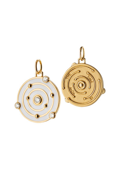 Monica Rich Kosann - 18K Yellow Gold & Enamel The Time Is Now Pendant