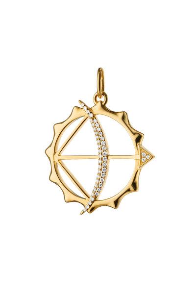 Monica Rich Kosann - 18K Yellow Gold Apollo Bow & Arrow Charm