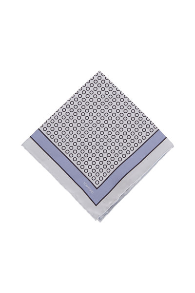 Tom Ford - Light Blue Dot Silk Pocket Square