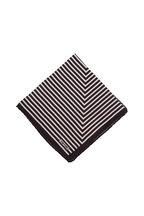 Tom Ford - Black, Blue & Gray Geometric Silk Pocket Square
