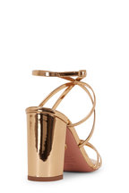 Aquazzura - Gin Gold Metallic Leather Strappy Sandal, 85mm