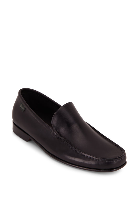 Paraboot Argeles Black Leather Loafer