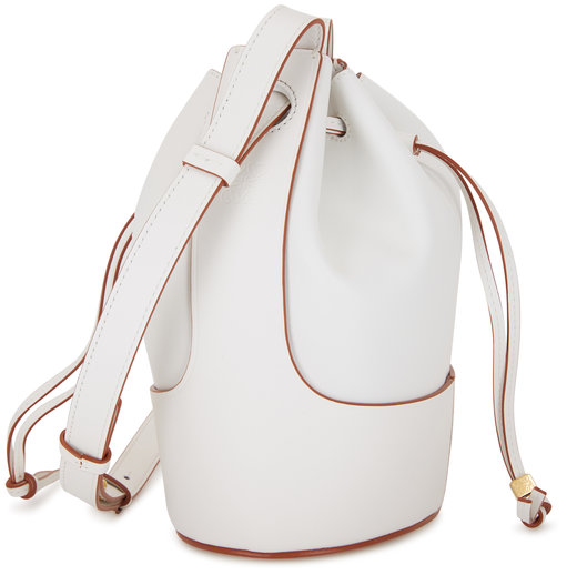 Loewe Small Balloon Soft White Smooth Leather Bag
