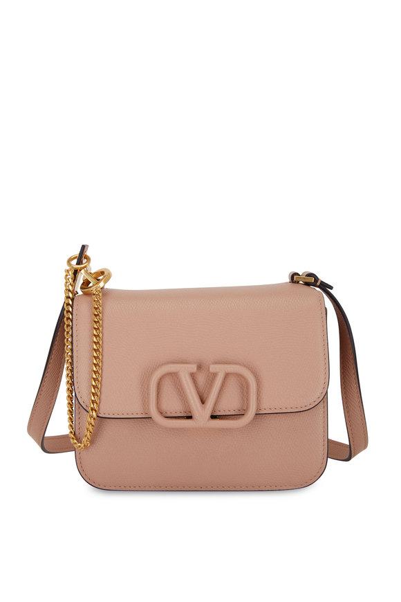 Valentino Garavani V-Sling Rose Cannaelle Leather Small Shoulder Bag