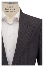 Tom Ford - Charcoal Grey Striped Wool & Silk Peak Lapel Suit
