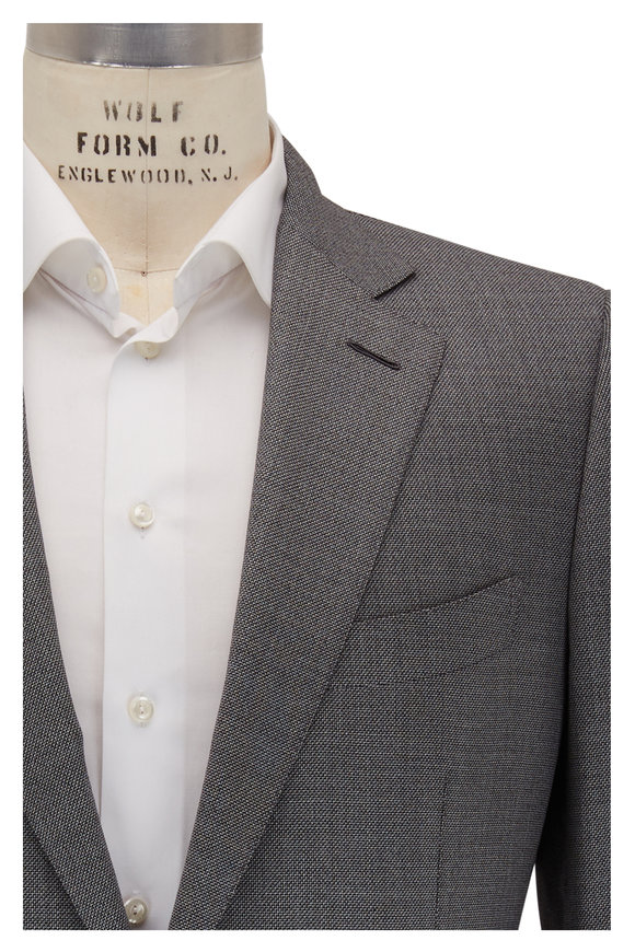 Tom Ford O'Conner Gray Tic Wool Sportcoat