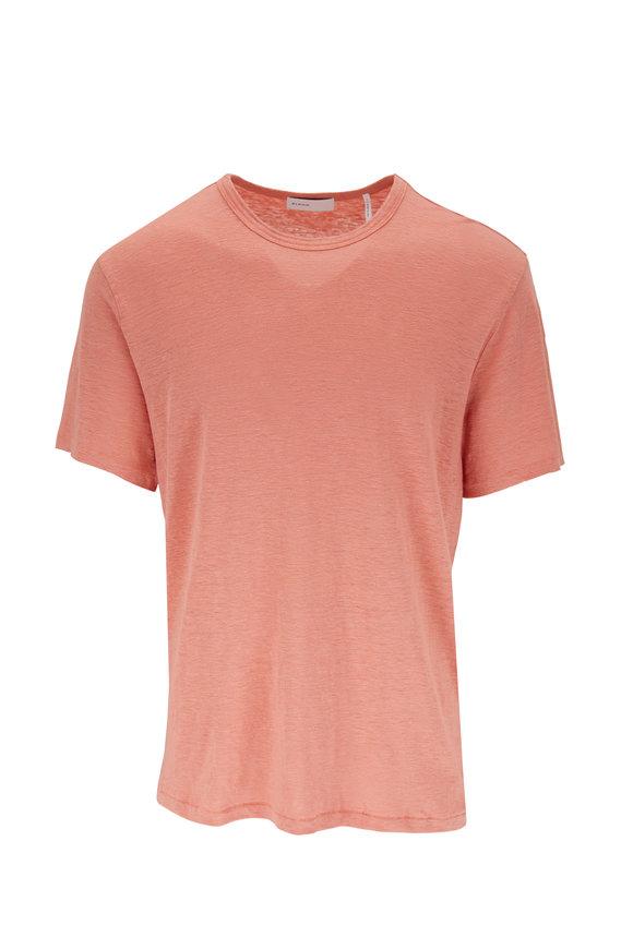 BLDWN Nolen Faded Orange Linen T-Shirt