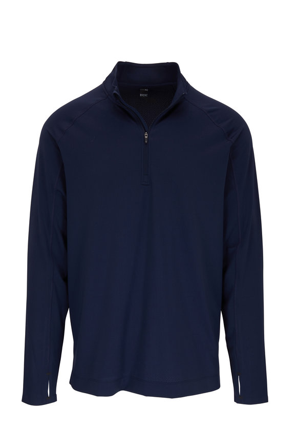 Rhone Apparel Courtside Navy Blue Quarter-Zip Pullover
