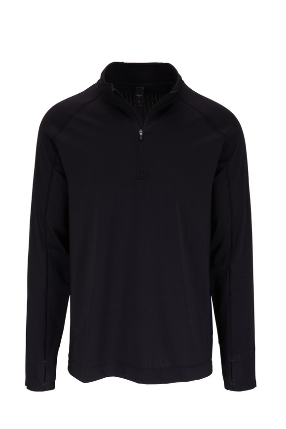 Rhone Apparel Courtside Black Quarter-Zip Pullover