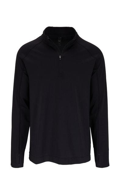 Rhone Apparel - Courtside Black Quarter-Zip Pullover