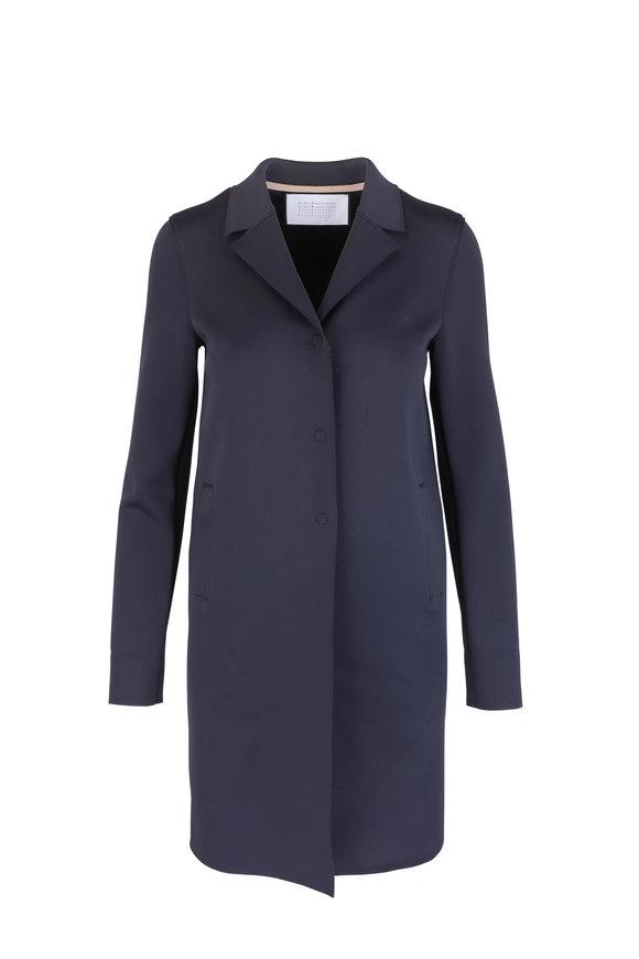 Harris Wharf Midnight Blue Technic Topper Coat