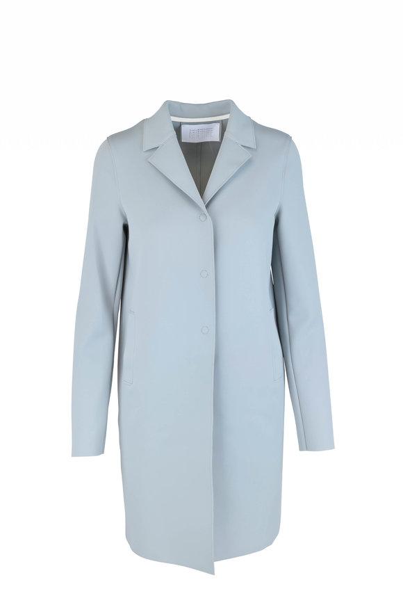 Harris Wharf Powder Blue Technic Topper Coat
