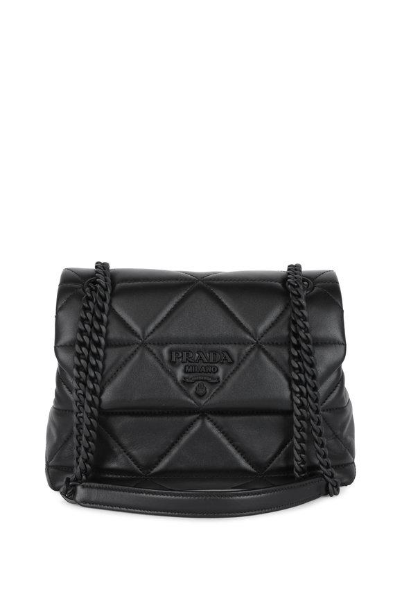 Prada Spectrum Black Leather Quilted Shoulder Bag