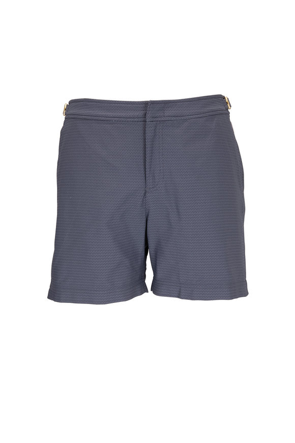 Orlebar Brown Bulldog x Pensacola Gray Chevron Swim Trunks