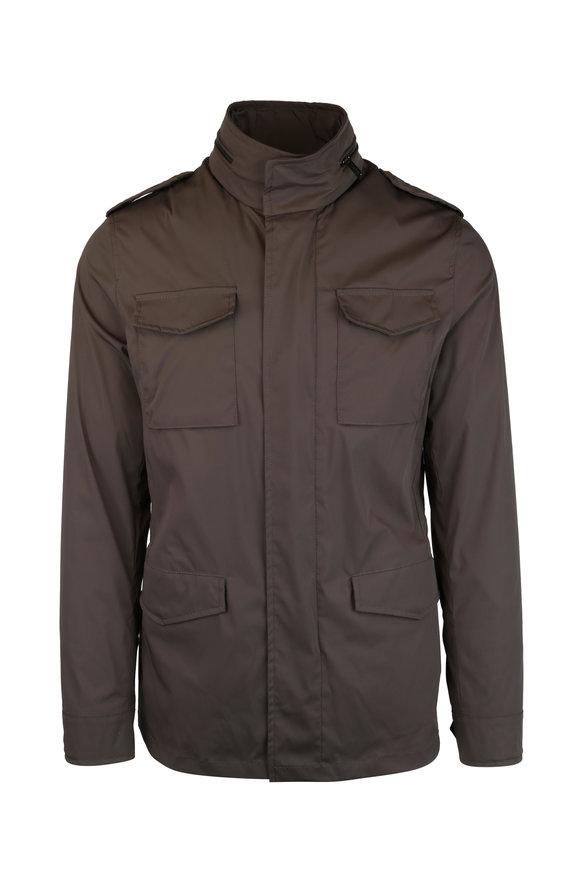 Maurizio Baldassari Olive Green Tech Nylon Jacket