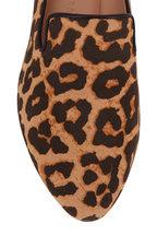 Veronica Beard - Griffin Leopard Print Canvas Flat