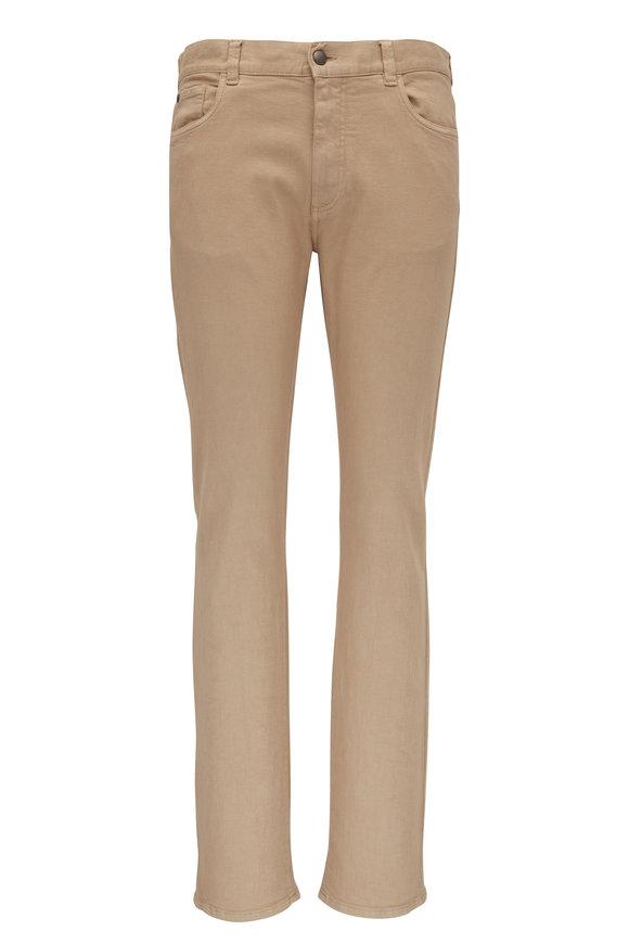 Canali Tan Five Pocket Regular Fit Pant