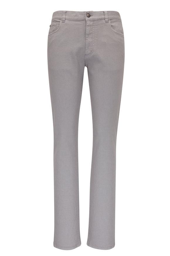 Gray Five Pocket  Regular Fit Pant