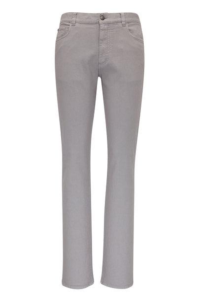 Canali - Gray Five Pocket  Regular Fit Pant