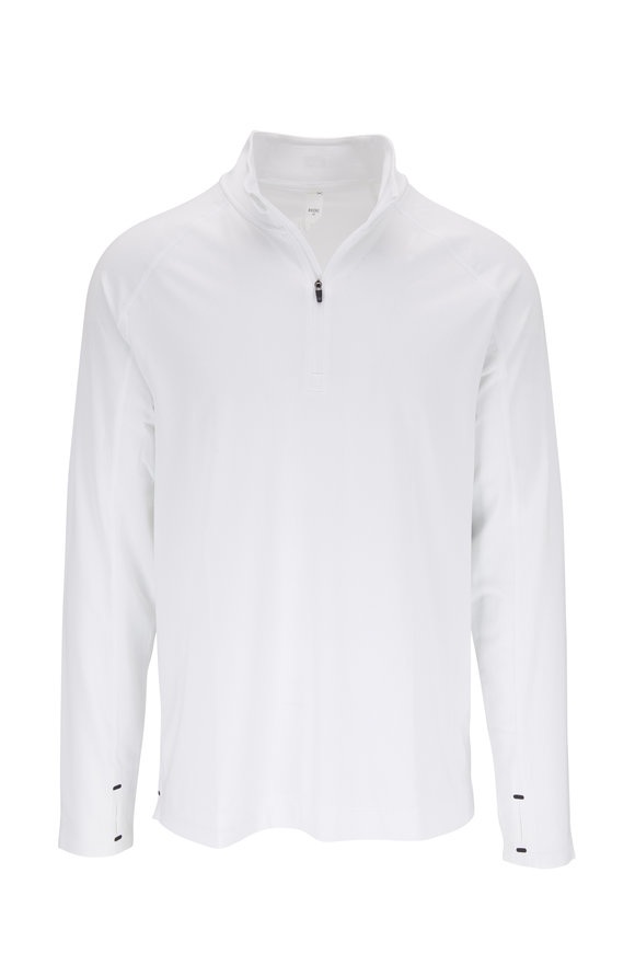 Rhone Apparel Courtside White Quarter-Zip Pullover