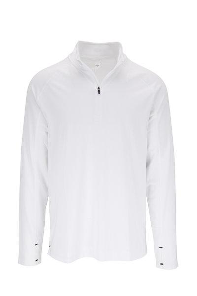 Rhone Apparel - Courtside White Quarter-Zip Pullover