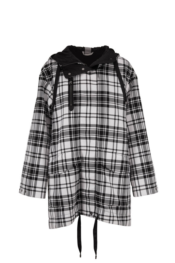 Bogner Zina Black & White Plaid Oversize Jacket