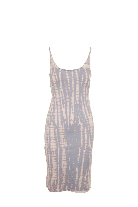 Raquel Allegra Minty Blue Tie  Dye  LayeringTank Dress