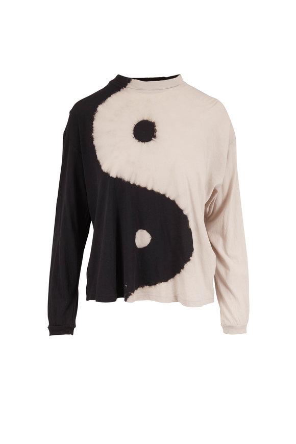 Raquel Allegra Black & White Ying Yang Long Sleeve T-Shirt