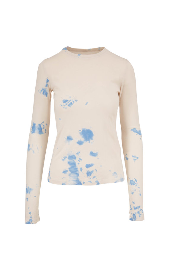 Raquel Allegra Cloud Blue Tie Dye Long Sleeve T-Shirt