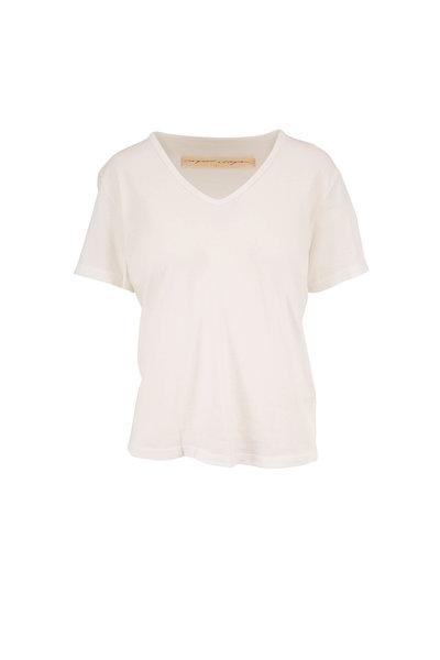 Raquel Allegra - New White V-Neck T-Shirt
