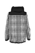 Herno - Black & White Grid Pattern Weather Proof Jacket
