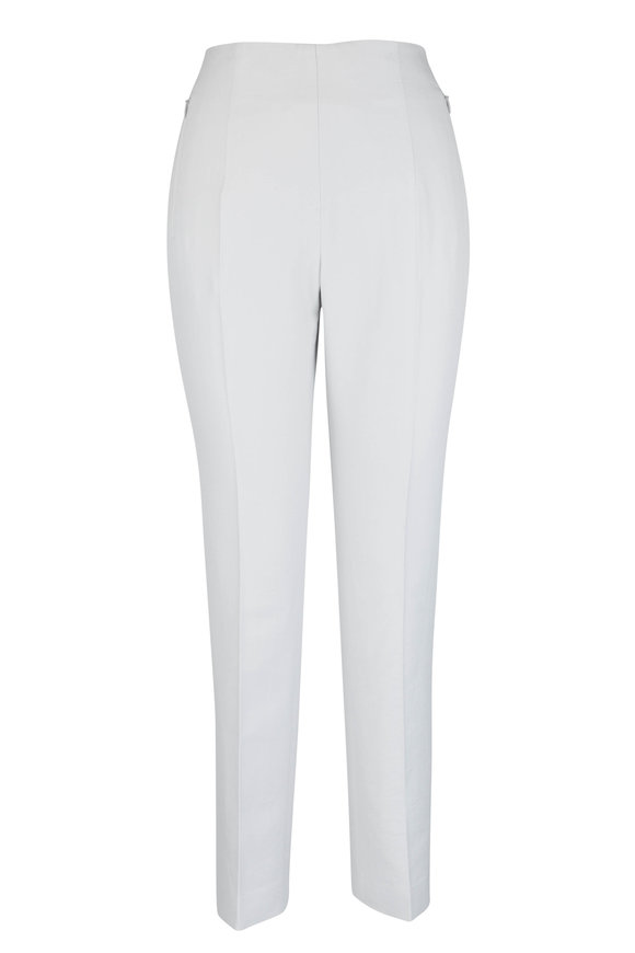 Akris Conny Silver Silk Blend Ankle Pant