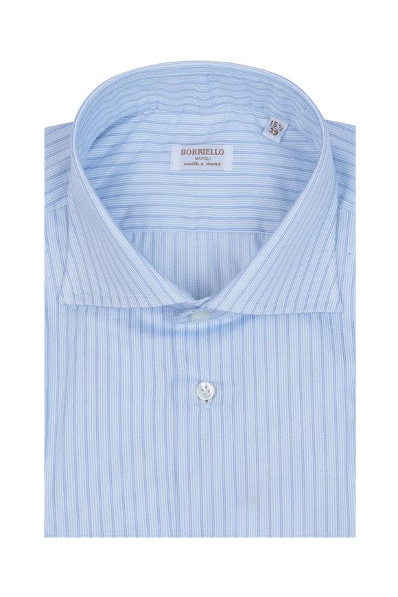 Borriello Blue & White Striped Dress Shirt