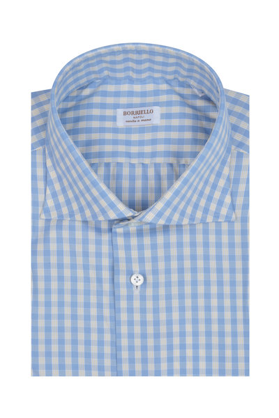 Borriello - Light Blue & Yellow Check Dress Shirt