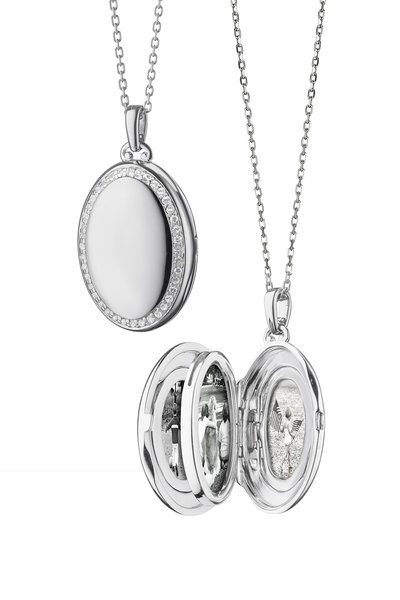Monica Rich Kosann - Sterling Silver Four Image Locket Necklace