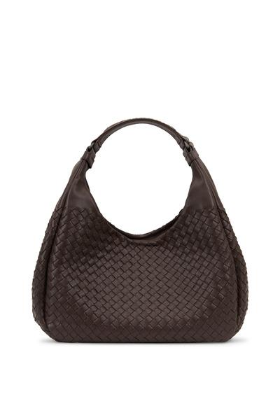 Bottega Veneta - Campana Brown Intrecciato Nappa Small Hobo Bag