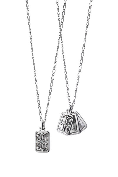 Monica Rich Kosann - Sterling Silver Rectangle Gate Locket Necklace
