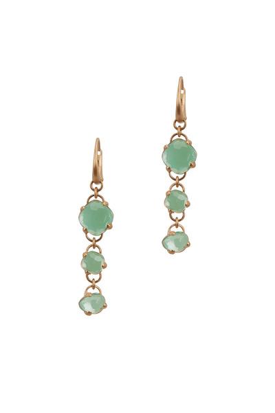 Pomellato - 18K Rose Gold Chrysoprase & Rock Crystal Earrings