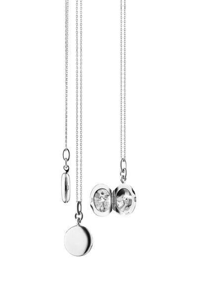 Monica Rich Kosann - Sterling Silver Round Locket Necklace