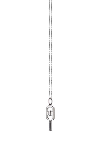 Monica Rich Kosann - Sterling Silver Pocket Watch Key Necklace