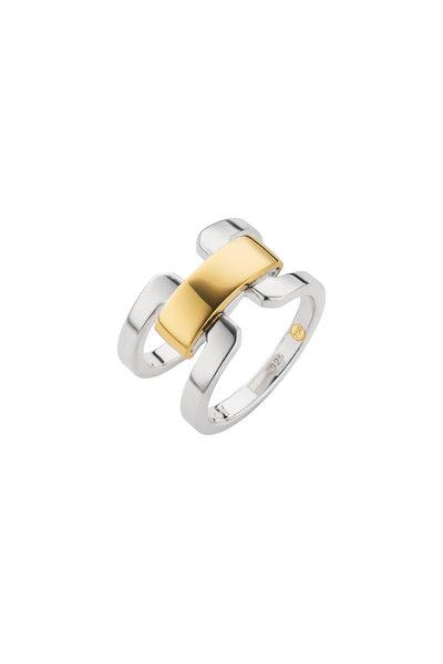 Monica Rich Kosann - Sterling Silver & Gold Wide Band Ring