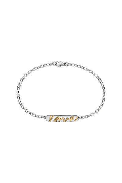 Monica Rich Kosann - Sterling Silver & Yellow Gold Posey Love Bracelet