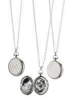 Monica Rich Kosann - Sterling Silver Pocketwatch Locket Necklace