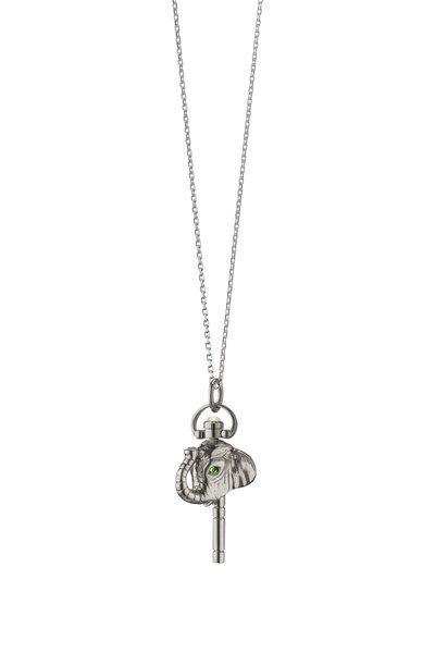 Monica Rich Kosann - Sterling Silver Mini Luck Elephant Charm Necklace