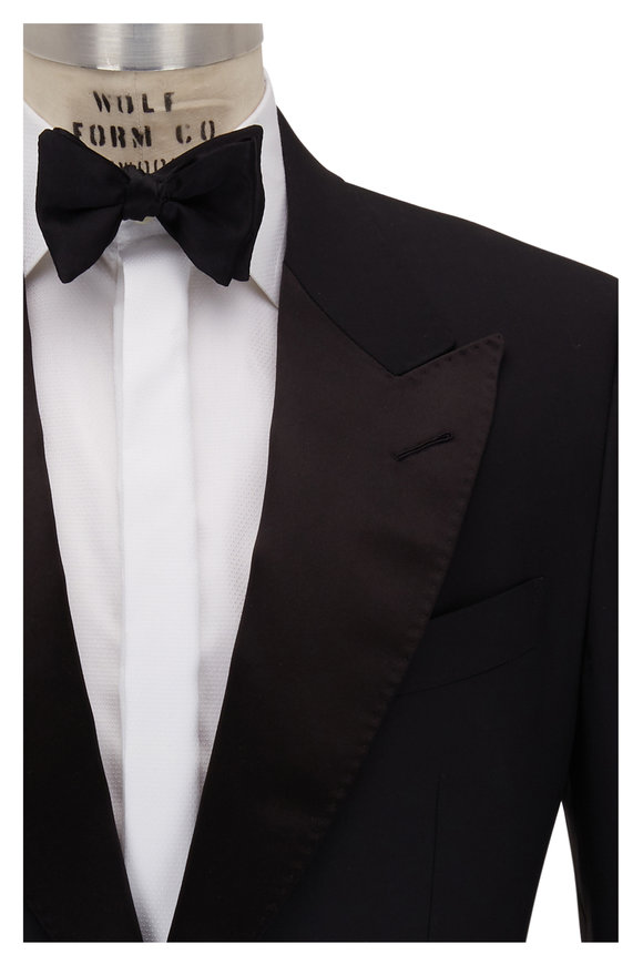 Tom Ford Shelton Black Wool Tuxedo
