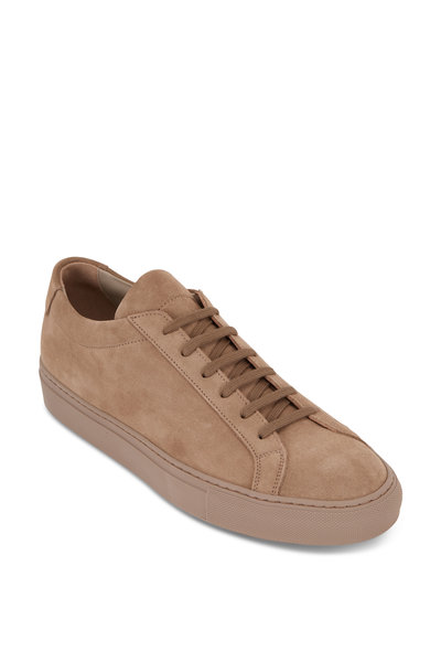 Common Projects - Achilles Taupe Suede Low-Top Sneaker
