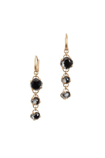 Pomellato - 18K Rose Gold Black Onyx Three Drop Earrings