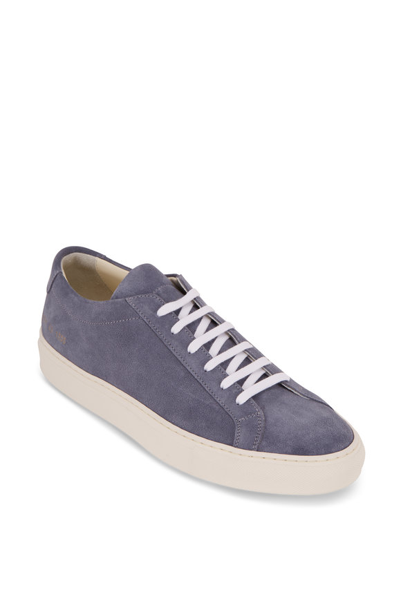 Common Projects Achilles Light Blue Suede Low-Top Sneaker