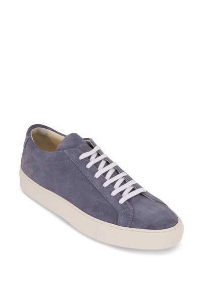 Common Projects - Achilles Light Blue Suede Low-Top Sneaker